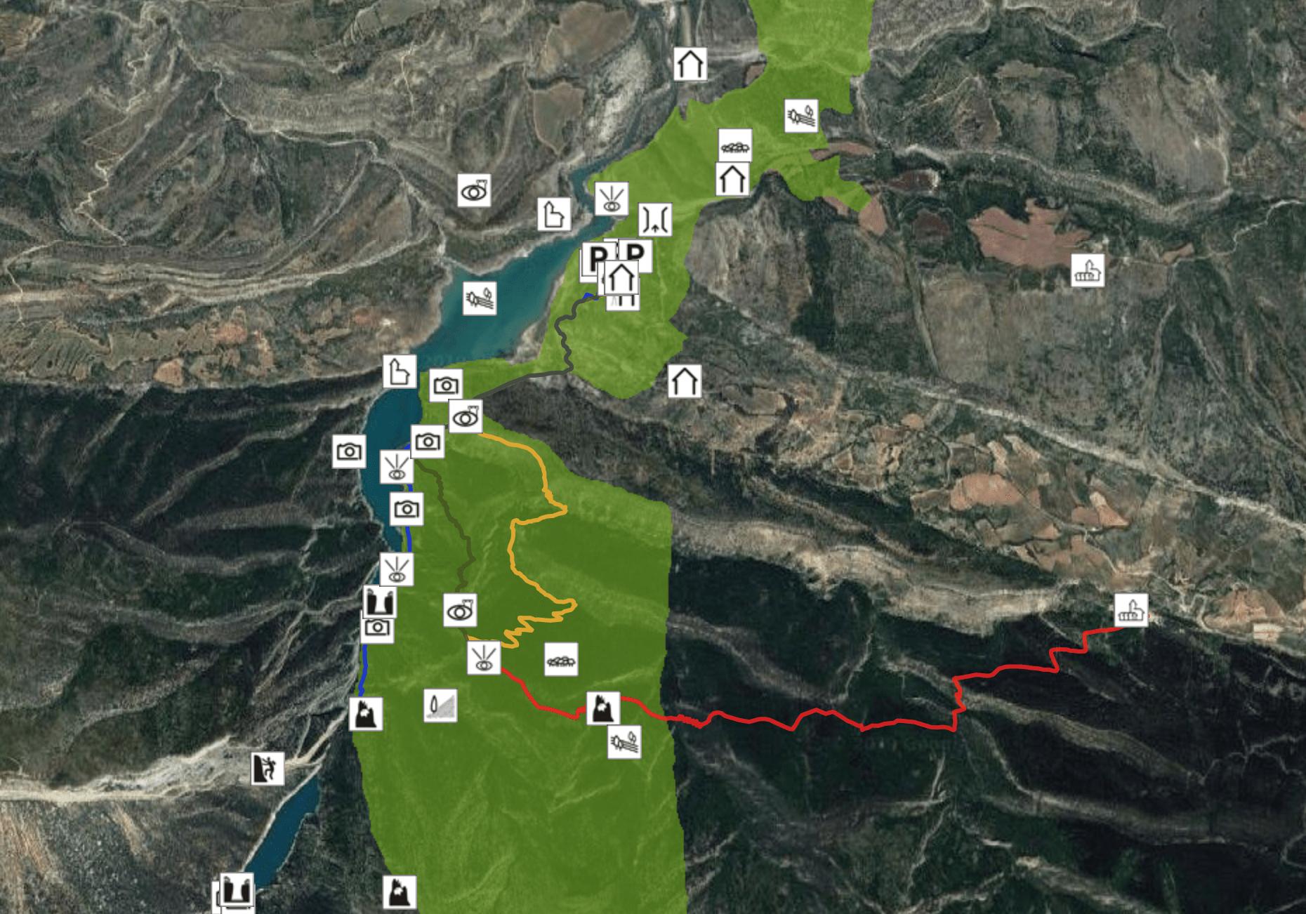 mapa congost montrebei